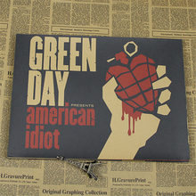 New Style Green Day Poster Free Shipping Poster the Best Gift Punk Punk Rock Poster Bar Cafe Decorative Paintings(China)