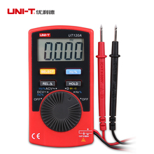 Portable UNI-T UT120A Autoranging Digital Multimeter DC Voltage 400mV Slim Meter AC 4/40/400/600V LCD Red +Carrying Case(China)