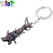 Hot Online Game LOL keychain League Of Legend Runaway Lolita Jinx Darts Weapon keyring Pendant Models Gift Collection Periphery