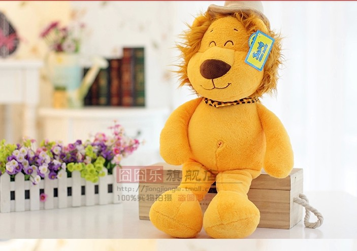 stuffed animal king lion plush toy 58 cm lion doll throw pillow c7903<br><br>Aliexpress