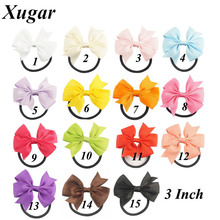 6 Pcs Lovely Pinwheel Hairbows For Girls Kids Small Hair Bow With Elastic Band Cute Hairbow Hair Accessories