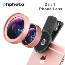 Phone Lens, Ulanzi 2 in 1 Cell Phone Camera Lens Kit, 0.45x Wide Angle +12.5X Macro Lens for iPhone Samsung Android Smartphones(China)