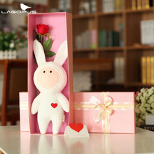 Kawai Rabbit Doll Baby Bunny Plush Catoon Toys Stuffed Plush Rabbit Animals Dolls for Girls Baby Stuffed Plush Animals Kids Toy(China)