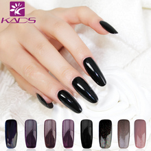 KADS Gel polish 9.5ML Black Color Gel Polish Led UV Soak off Nail Gel Varnish Lacquer UV Gel Nail Art Design(China)