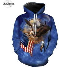 Eagle American Flag 3D Hoodie Hoodies Men Women New Fashion Autumn Winter Pullover Hoody Tops Casual Hip Hop Brand Sweatshirt(China)