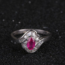 Robira Finger Ring 2017 Real New Arrival Round Shape Wedding Rings For Women 18k Gold Ruby Gem With Jewelry Wholesale