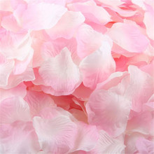 Comfortable life 1000pcs Silk Rose Petals Artificial Flower Wedding Favor Bridal Shower Aisle Vase Decor free shipping A10