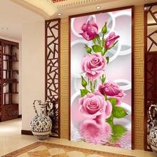 Zozack китайские Рукоделие, сделай сам DMC розы Вышивка крестиком печатные узоры, наборы для ухода за кожей для Вышивка комплекты крестиком Дома...(China)