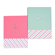 Pack of 2 Hardcover Combine Memo Holder Notepad Sticky Notes with Pen for School Office