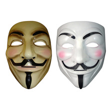 5pcs The V for Vendetta Party Cosplay Masque Masks Halloween Fancy Dress Adult Costume Accessory Anonymous Guy Fawkes Masks