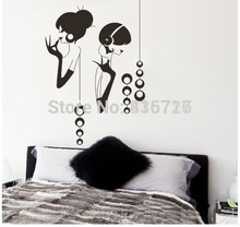 Western Style Bedroom Accessories Wall Stickers Sexy Girls Posters High Quality Mural Home Decoration Pictures Free Shipping