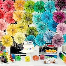 AJP 16inch 40cm Cheap Paper Fans For Wedding Tissue Paper Fans Flowers Birthday Party Holiday Supplies Wedding Favors