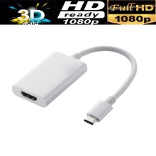 USB 3.1 Type-C to HDMI AV cable adapter converter USB-C male to HDMI female black color wholesale