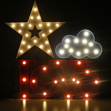 HOT SALE INS Cloud LOVE Sign LED Night Light Star 3D Wall Lamps Battery Operated Luminaria Desk Lamp For Kids Gift Decor