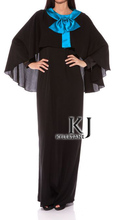 plus size abaya women maxi long muslim Ladies Kaftan Stretch Jersey Fabric Muslim Clothing for Women Free Shipping KJ-WAB521(China)
