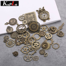 Buy Vintage Metal Mixed Steampunk Clock & Gear Charms Diy Fashion Handmade Accessories Gear Pendant Charms Jewelry Making 40pcs for $5.38 in AliExpress store