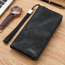 2016 New brand men's wallet zipper long phone clutch bag fashion canvas purse clutch wallet free shipping(China)