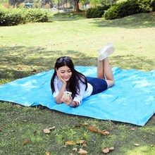 215 * 215cm Outdoor Moistureproof Foldable Camping Mat for Picnic Sand Free Mat Blanket Pad for Camping Hiking +Storage Bag
