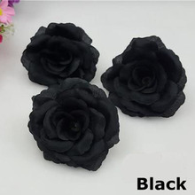 10PCS/Lot 8CM artificial black roses Silk Flower Heads DIY Wedding Home Decoration Festive Accessories& Party Supplies(Can Mix )
