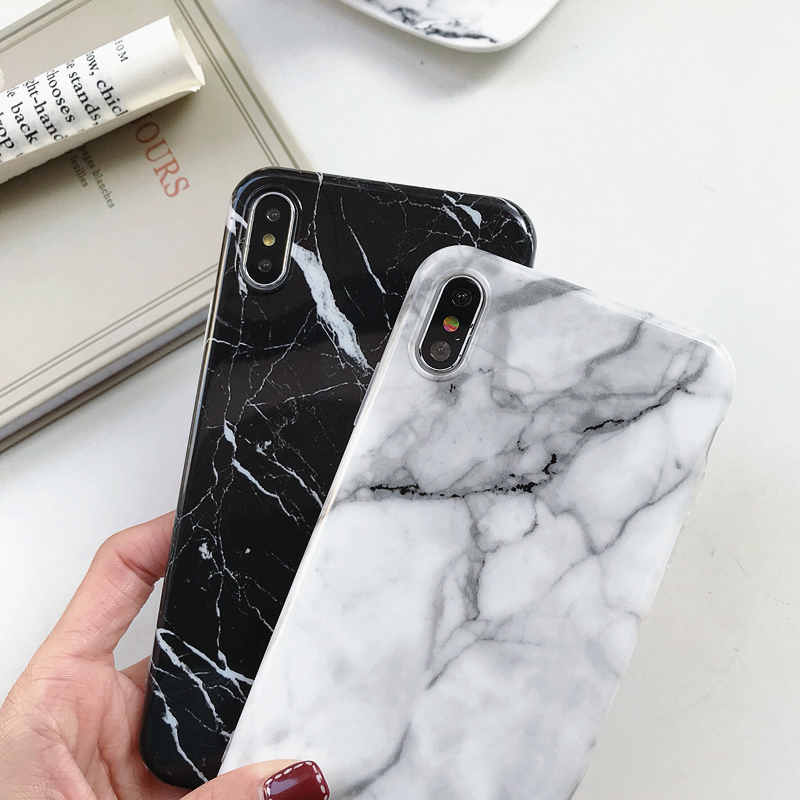 Marble-Case-on-For-Coque-iphone-7-XS-MAX-Case-Soft-TPU-Back-Cover-For-iphone (6)