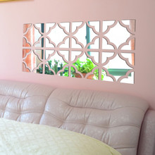 20pcs Acrylic Mirror Wall Sticker Removable DIY Decal Home Vinyl Mural Decor(China)
