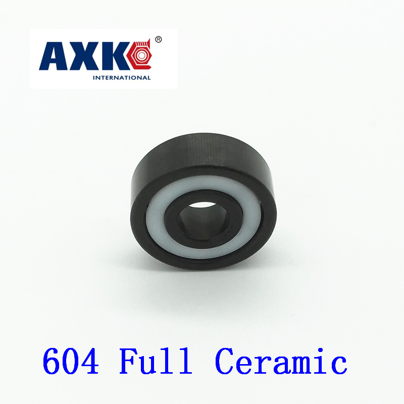 2018 Rushed Rolamentos Axk 604 Full Ceramic Bearing ( 1 Pc ) 4*12*4 Mm Si3n4 Material 604ce All Silicon Nitride Ball Bearings<br>