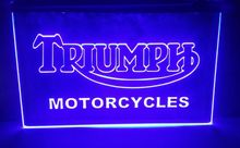 tr04 Triumph Motorcycles Services Repairs 2 size beer bar pub club 3d signs LED Neon Sign home decor shop crafts