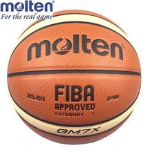 Official Standard Size7 Molten GM7X Basquete PU Leather Basketball Ball Training Basketball Equipment With Free Pin + Net bag