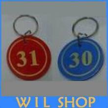 DHL Free shipping 200pcs Garment Tags Key ID Labels number key Tag Cards with Digital tag key ring One to Two Hundred