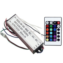 50W RGB LED Driver IP67 Waterproof AC90V~265V DC20-30V 600MA With Remote Control With Memory Function