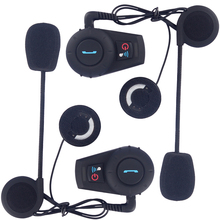 Intercomunicador Bluetooth Moto Bluetooth Helmet Headset/Intercom BT Interphone Kit for Scooters and Motorcycles(Pack of 2)(China)
