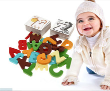 New Wooden Early Education Baby Preschool Learning ABC Alphabet Letter Cards Cognitive Toys Animal Puzzle