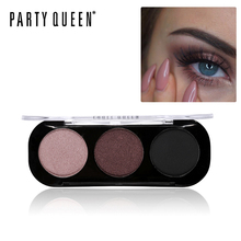 Party Queen Sliky Trio Eyeshadow Palette 8 Styles Shimmer Matte Bronze Eyeshadow Makeup Natural Nude Smokey Glamour Eye Shadow