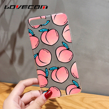 LOVECOM For iPhone 6 6S Plus 7 Plus Case Pink Honey Peaches Soft TPU Transparent Mobile Phone Cases Back Cover Coque Shell Capa