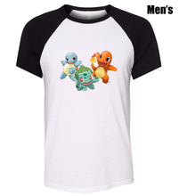 Men's Fashion Cute Pokemon Squirtle Bulbasaur Charmander Design Plain anime T-Shirts - bid&win's store