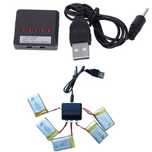 Hot 5 in 1 Lipo Battery USB Charger Adapter for Syma X5C-1/X5C Drone UFO Quadcopter 6IRC(China)