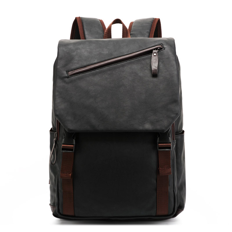 PU large space mens leather backpacks male students casual for school ,travel,,casual bag,notebook back packs,male bag<br>