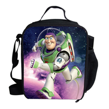 Cute Cartoon Character Lunch Bag For Kids Toy Story Buzz Lightyear Lunch Bag Thermal Cooler For School Boys Girls Children