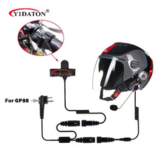 YIDATON Motorcycle Helmet Headset Microphone for Motorola EP450 CP180 CP185 CP040 BPR-40 GP88 GP88S GP2000 HYT TC-500 TC-600 B0(China)