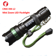 Flashlight LED CREE XM-L2 Self defense Household outdoor essential Mechanical rotating zoom Mini Torch(China)