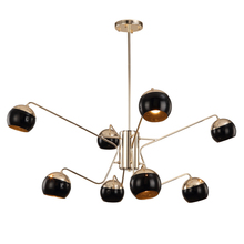 Nordic 8 arm led chandelier light Toolery black modern creative iron body Hanging lamp villa compound E27 lamp free shipping