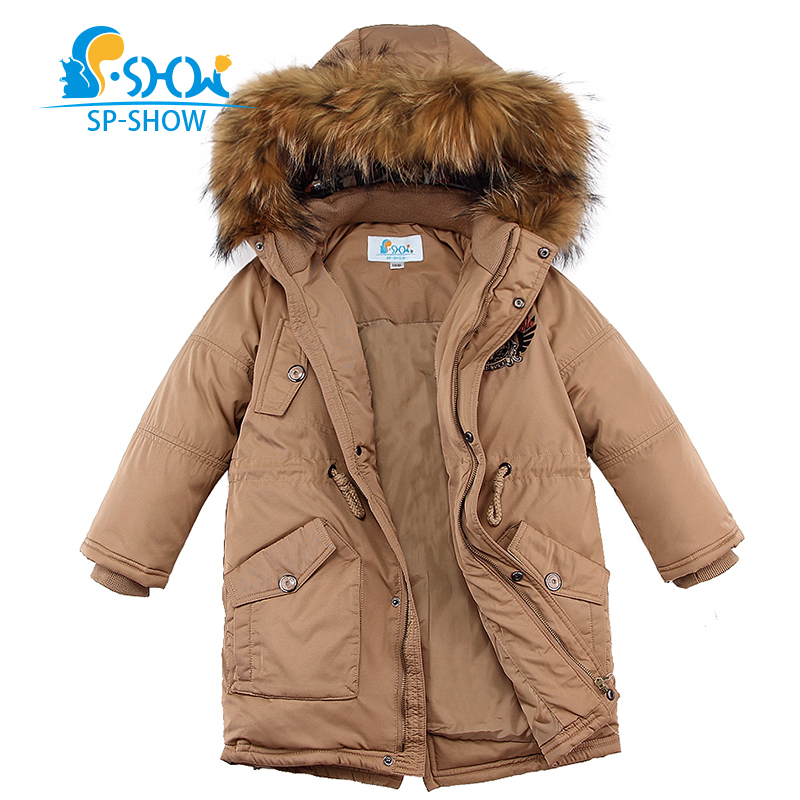 SP-SHOW Winter Children's Outwear Hooded Jackety  Coats Boy Clothing Down And Parkas For 5-9 Age Jackets& Parkas 31903