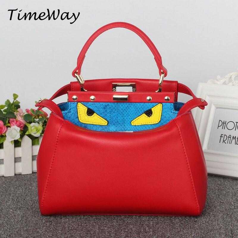 Famous Brand Handbags Women Designer Eyes Monster Mini Bags Genuine Leather Stylish Small Ladies Shoulder Crossbody Bags Fashion<br><br>Aliexpress