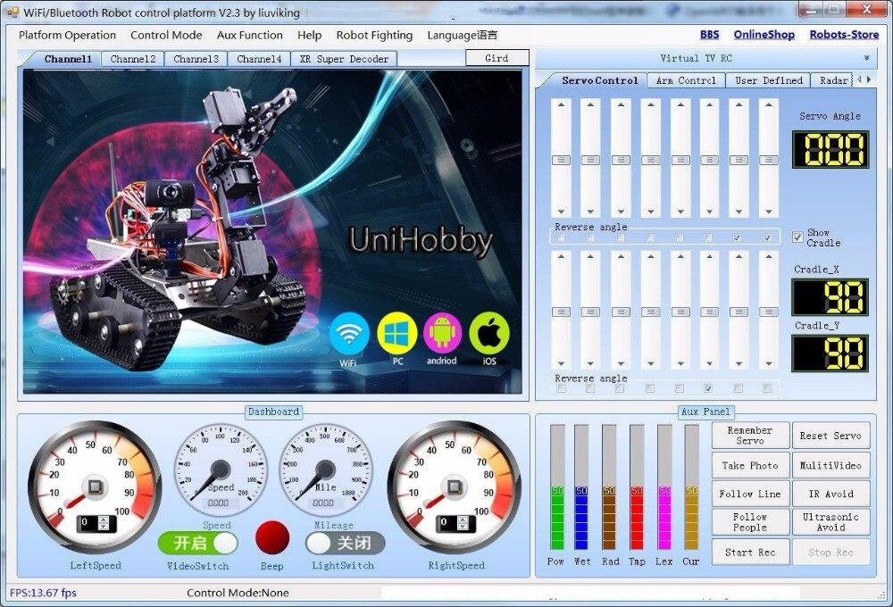 UniHobby DS Wireless Wifi Robot Car Kit for Raspberry Pi (4)