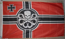 Hail Hydra German Flag Polyester grommets 3' x 5' Banner metal holes Flag(China)