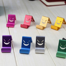 Universal Phone Stand Holder For Tablet Phone MP4 For iPhone for Samsung Metal Alloy Devil/Smile Face Random Color