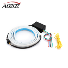 RGB Car Trunk Rear Strip Light Tail Brake Stop Light Bar Flowing Turn Signal Lights Driving Light Position MarkerLampDC12V72-LED(China)