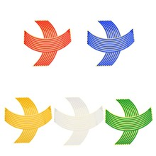 "Car-Styling 16pcs Wheel Rim Tape Striping Reflective Sticker 17"" 18"" for Motorcycle Bike 8mm(China)"