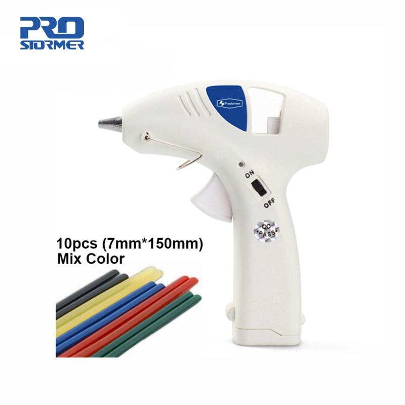 Professional Mini Cordless Heating Hot Melt Glue Gun 10W 50pcs Free Glue Stick Business & Industrial