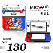 Mario N Sonic Protective Cover Shell For Nintendo 3DS XL LL Stickers Vinly Skin Sticker for NEW 3DS XL Sticker w/ retail package